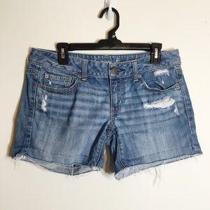 American Eagle Distressed Denim Cutoff Shorts